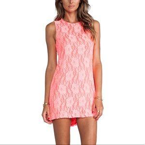 Naven Twiggy Dress in Neon Salmon